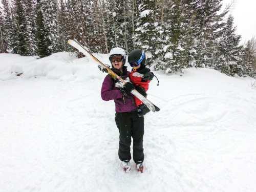 baby skiing toddler skiing