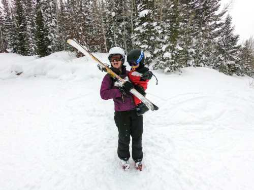 baby skiing toddler skiing