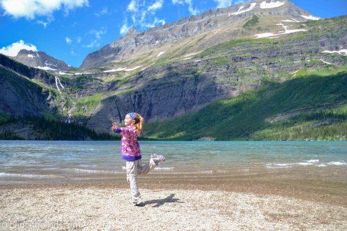 glacial lake, grinnell lake