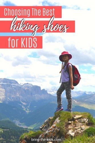 girl hiking, mountain top kid