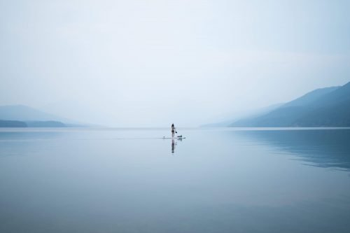 paddleboard on lake