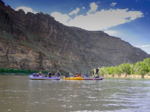 rafting desolation canyon with kids