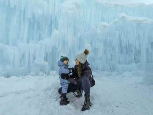 baby in ice castles