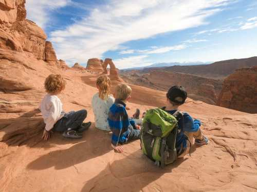 delicate arch hike with kids