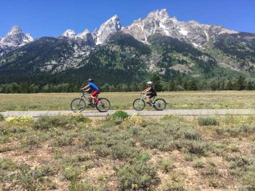 biking grand teton national park