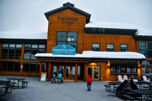 skiing grand targhee kids base area