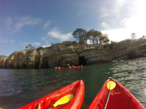 kayaking la jolla with teens