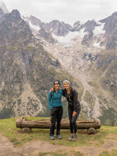 mont blanc with teens