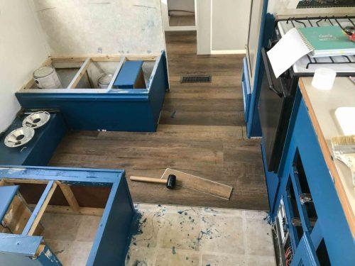 wood flooring in RV
