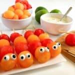 Caterpillar Fruit Kabobs With Easy Yogurt Fruit Dip