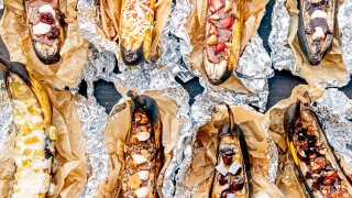 Campfire Banana Boats 9 Ways