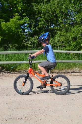 Learning to mountain bike on a bmx