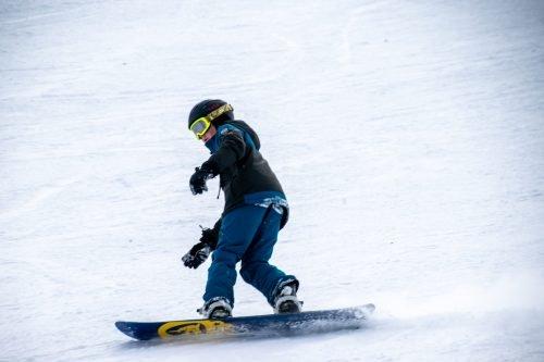 snowboard kid at solitude