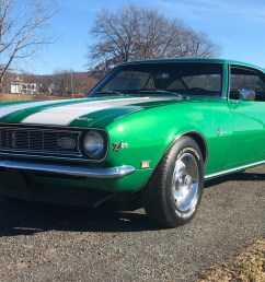 rally green 1968 chevrolet camaro z 28 4 speed for sale on bat auctions closed on february 18 2019 lot 16 392 bring a trailer [ 1931 x 1311 Pixel ]