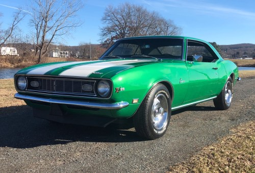 small resolution of rally green 1968 chevrolet camaro z 28 4 speed for sale on bat auctions closed on february 18 2019 lot 16 392 bring a trailer