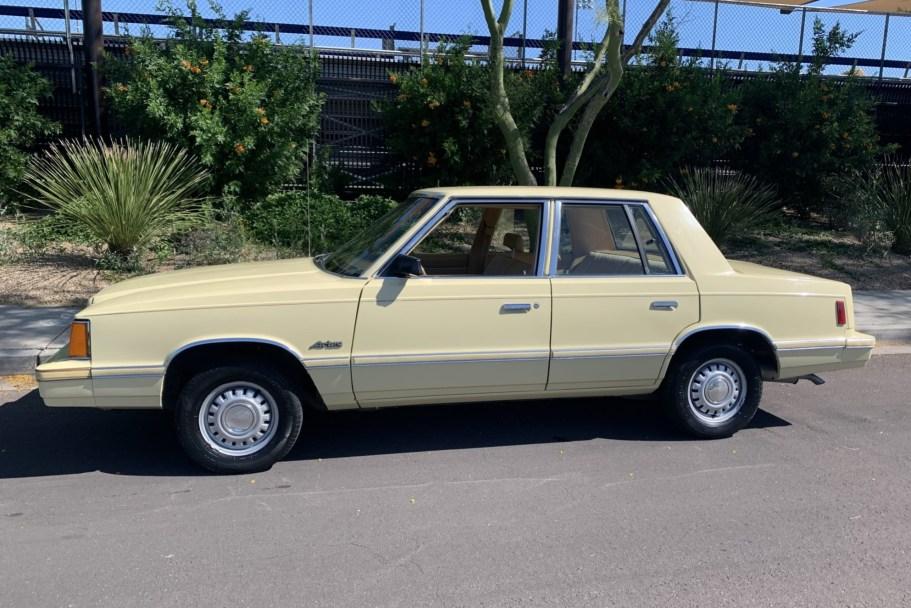 No Reserve: 1981 Dodge Aries K Sedan