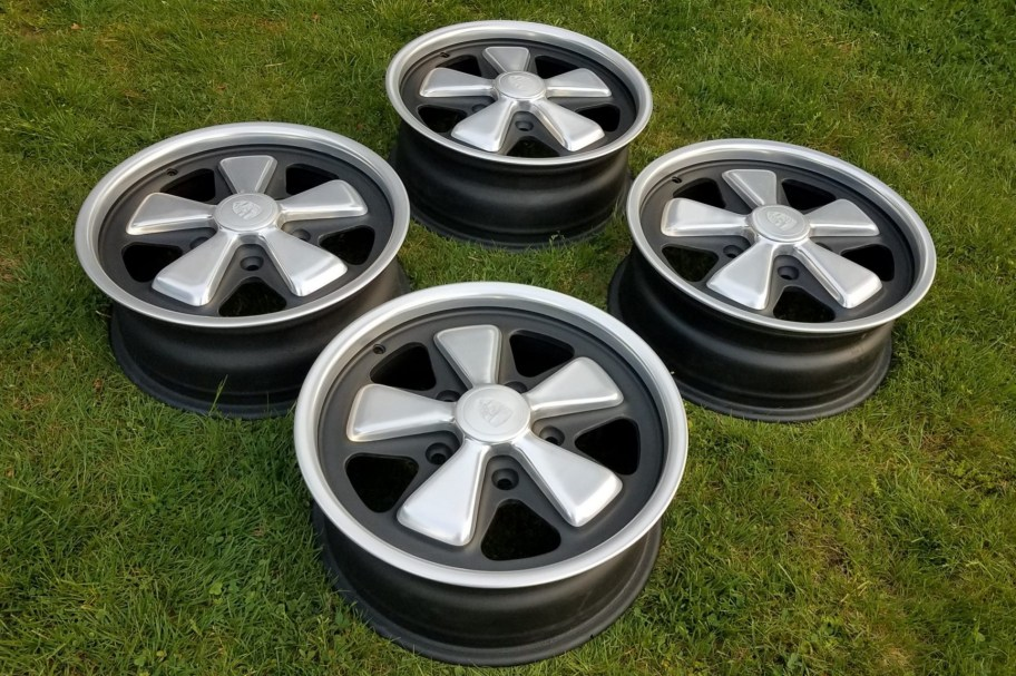 No Reserve: 1973 Fuchs 15×6″ Wheels for Porsche 911