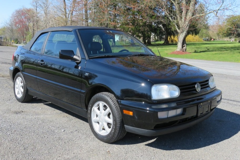 No Reserve: 21k-Mile 1996 Volkswagen Cabrio 5-Speed