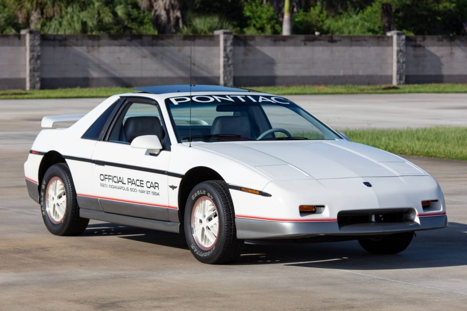 535-Mile 1984 Pontiac Fiero Indy Pace Car Edition