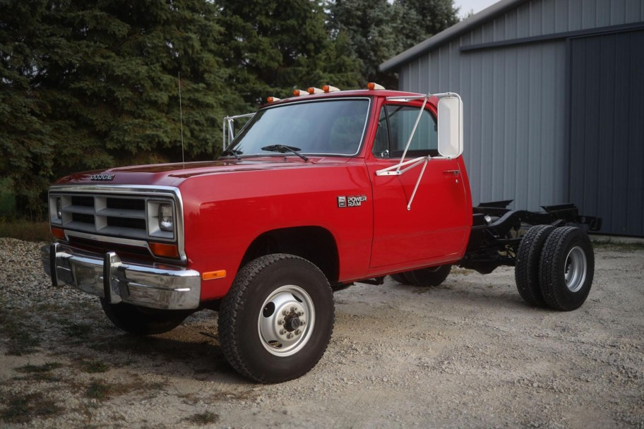 No Reserve: 171-Mile 1989 Dodge Power Ram W350 4x4 5-Speed
