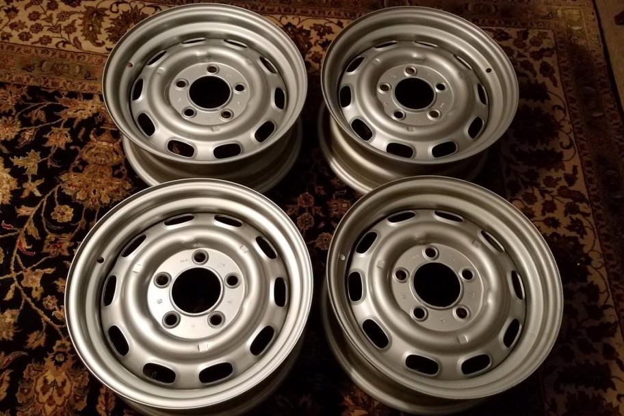 "No Reserve: 1971 KPZ 15x6"" Steel Wheels for Porsche 911"