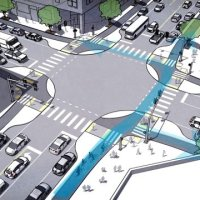 Designing safer intersections for bikes and pedestrians