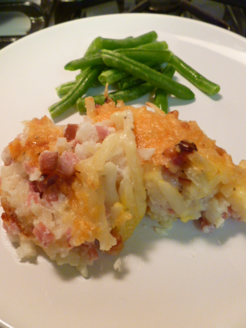 Potato and Ham Casserole – Five Ingredients and It's Done!