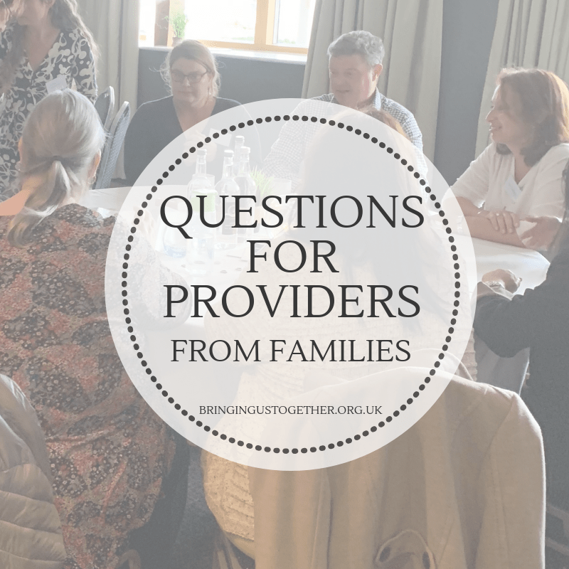 Questions for Providers from Families