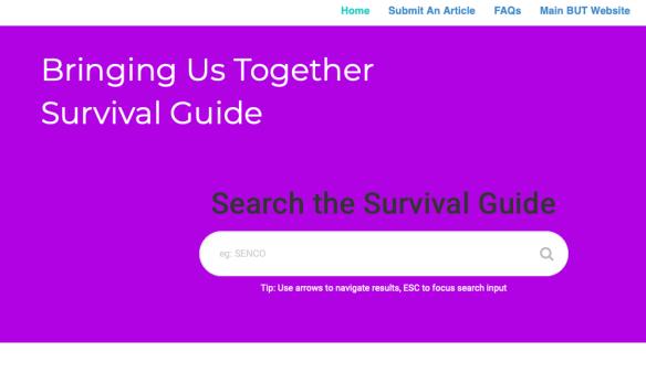 Bringing Us Together Survival Guide
