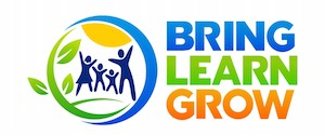 Bring Learn Grow Logo, Family Travel, BLG, Servcation™