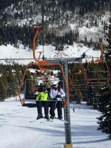 Family ski vacation, Ski Lift
