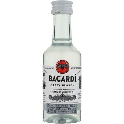 Bacardi Carta Blanca White Rum Miniature Bottles