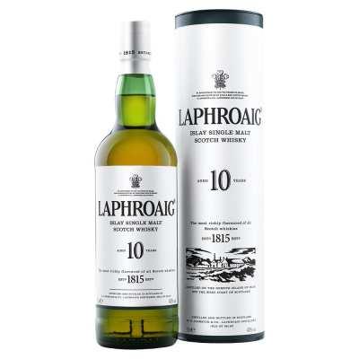Laphroaig 10 Year Old Single Malt Islay Scotch Whisky