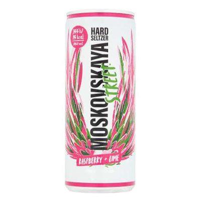 Moskovskaya Street Raspberry & Lime Hard Seltzer Can