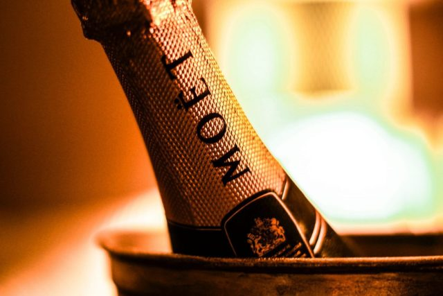 Moet & Chandon Bottle of Champagne In an ince bucket