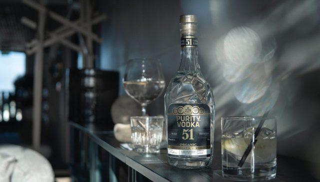 Premium Vodka In a Home Bar