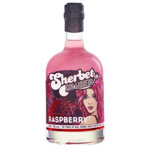 Raspberry Sherbert Gin Liqueur 50cl Bottle Popart style label