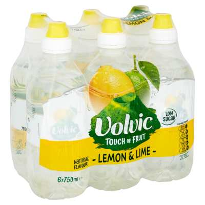 Volvic Touch of Fruits Lemon & Lime Flavoured Water 750ml