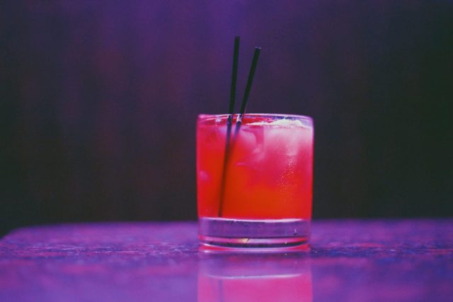 Cosmopolitan Cocktail in A Glass