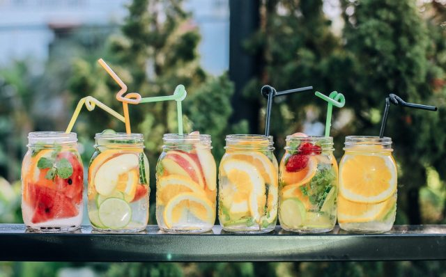 Cocktails in mason jars