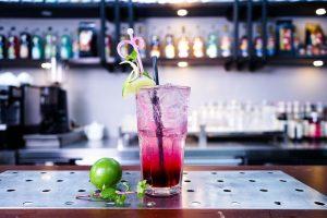 Vodka Cocktail Sat on a bar