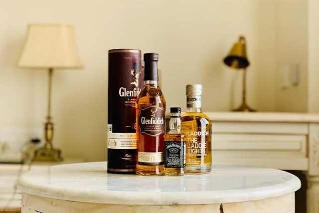 Scotch & Irish Whisky On A Table