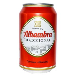 Alhambra Spanish Beer Cans