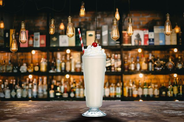 Bushwacker Rum Cocktail in a bar