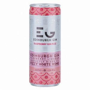 Edinburgh Gin Raspberry Gin Fizz Pre-Mixed Cocktail Cans 12 x 250ml