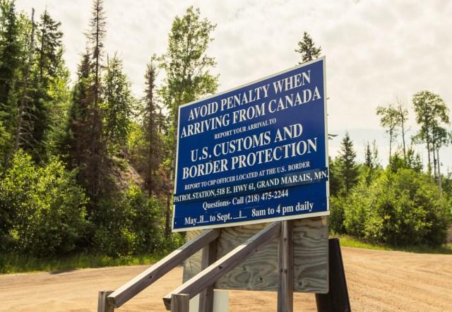 Minnesota-Canada border