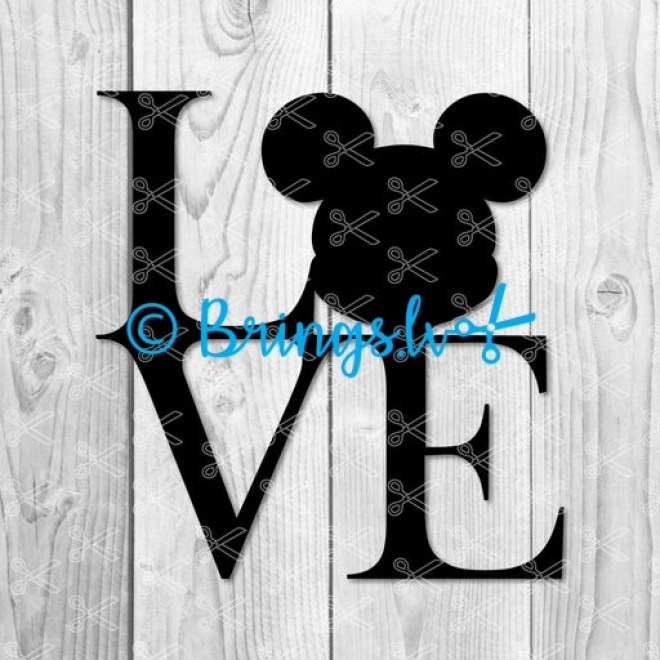 Love Mickey Mouse SVG