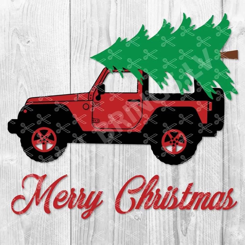 Christmas Jeep SVG