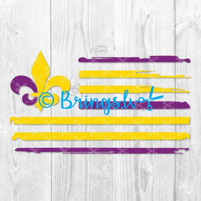 Mardi Gras Flag SVG