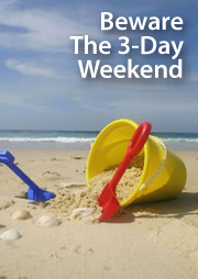 3-day weekends can make closings tough